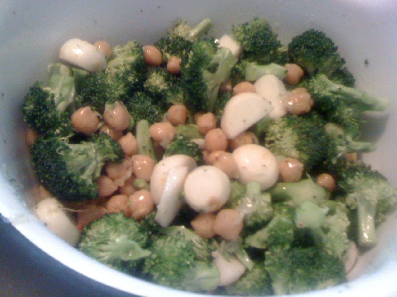 Roasted Broccoli With Chickpeas