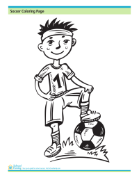 Soccer Coloring Printable