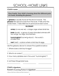 Using a Glossary