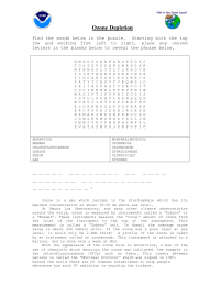 Ozone Word Search