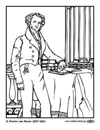 Martin Van Buren Coloring Page