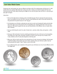 Connie's Coin Match Value Game