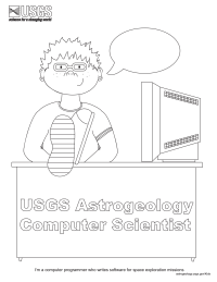 Computer Scientist Coloring Page