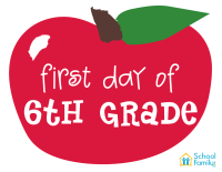 First Day of School Mini-Poster: 6th Grade