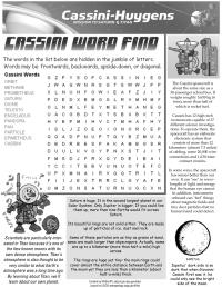 Cassini Word Find