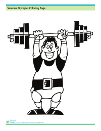 Summer Olympics Coloring Page: Weightlifter