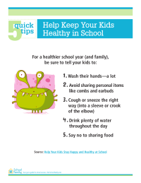 5 Quick Tips: Help Keep Your Kids Healthy at School