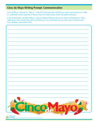 Cinco de Mayo Writing Prompt