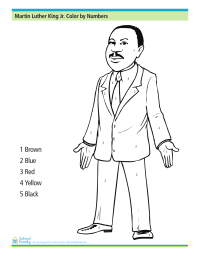 Martin Luther King, Jr., Day Color by Numbers Worksheet