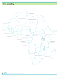 Fill-In Africa Map