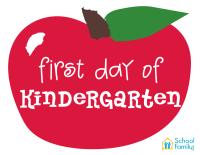 First Day of School Mini-Poster: Kindergarten