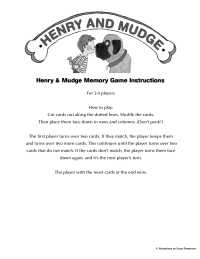 Henry and Mudge Matching Game Instructions