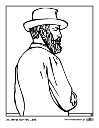 James Garfield Coloring Page