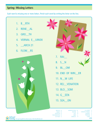 Spring Printable: Missing Letters