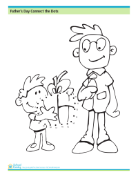Father's Day Connect the Dots Worksheet