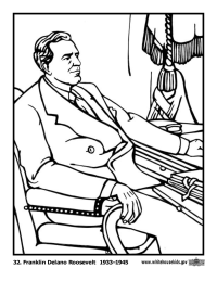 Franklin Delano Roosevelt Coloring Page