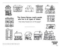 Census Worksheets: Many Types of Houses Coloring Page