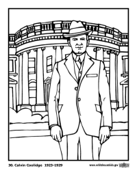 Calvin Coolidge Coloring Page