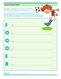 Soccer Acrostic Poem