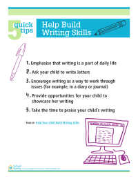 5 Quick Tips: Help Build Writing Skills