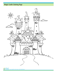 Magic Castle Coloring Page