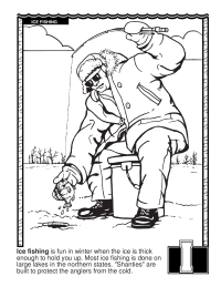 ABCs Coloring Book: I Is for Ice Fishing