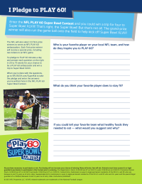 NFL Play 60 Writing Prompt