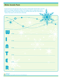 Winter Acrostic Poem