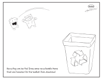 What To Recycle? Coloring Page