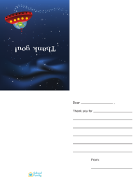 Thank-You Card—Outer Space