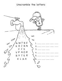 Water Word Scramble