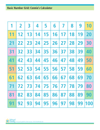 Basic Number Grid: Connie's Calculator