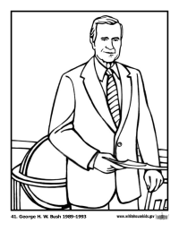 George H. W. Bush Coloring Page