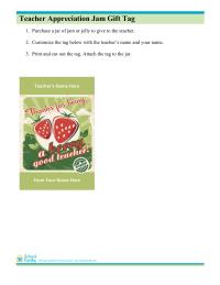 Jam Jar Gift Tag for Teacher Appreciation
