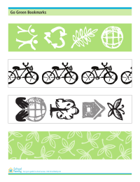 Go Green Bookmarks
