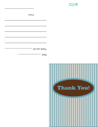 Thank-You Card—Stripes