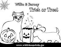 Willie and Barney Halloween Coloring Page