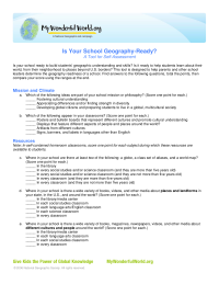 Is Your School Geography-Ready?