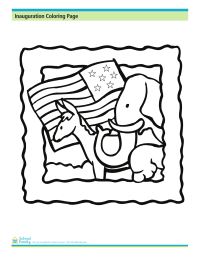 Inauguration Day Coloring Page