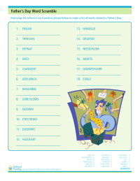 Father's Day Word Scramble