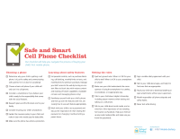 Mobile Safety Guide: Cell Phone Checklist
