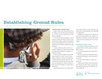 Mobile Safety Guide: Establishing Ground Rules