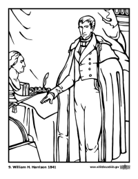 William H. Harrison Coloring Page