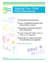 5 Quick Tips: Help Your Child With Homework