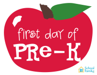 First Day of School Mini-Poster: PreK