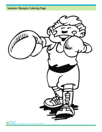 Summer Olympics Coloring Page: Boxing
