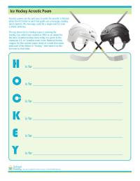 Ice Hockey Acrostic Poem