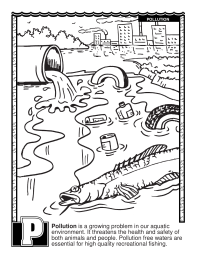 ABCs Coloring Book: P Is for Pollution