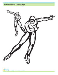 Winter Olympics Coloring Page: Speed Skating