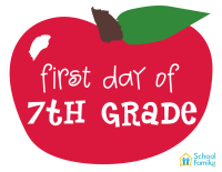 First Day of School Mini-Poster: 7th Grade